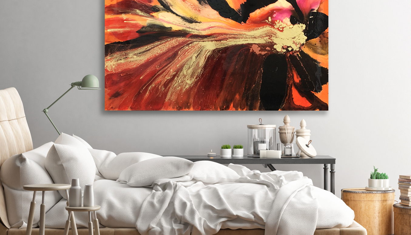 Resin Artwork, Artist Jessica Baker, Abstract Art in the Home