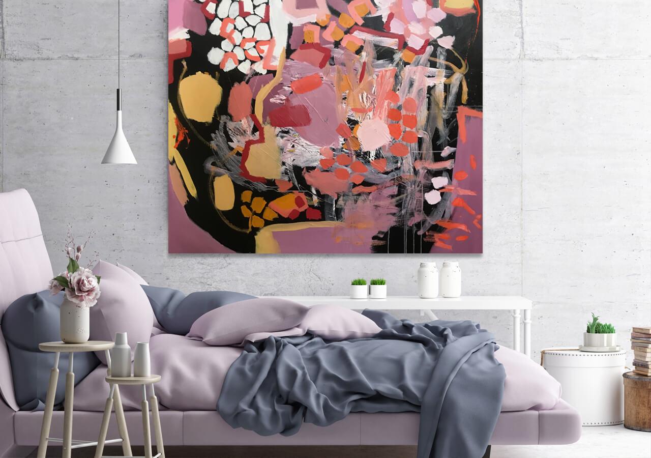 'Oh La Laaaa' Abstract Acrylic by Australian Artist Nicole Baker