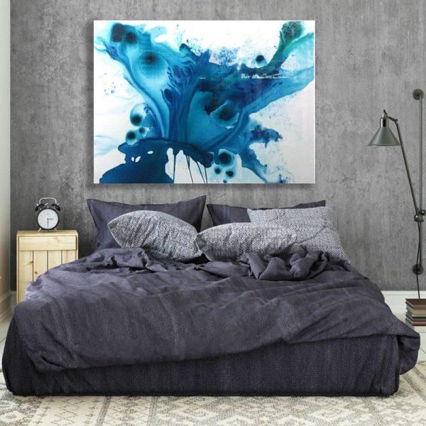 'Arial' resin painting by Australian artist Jessica Skye Baker