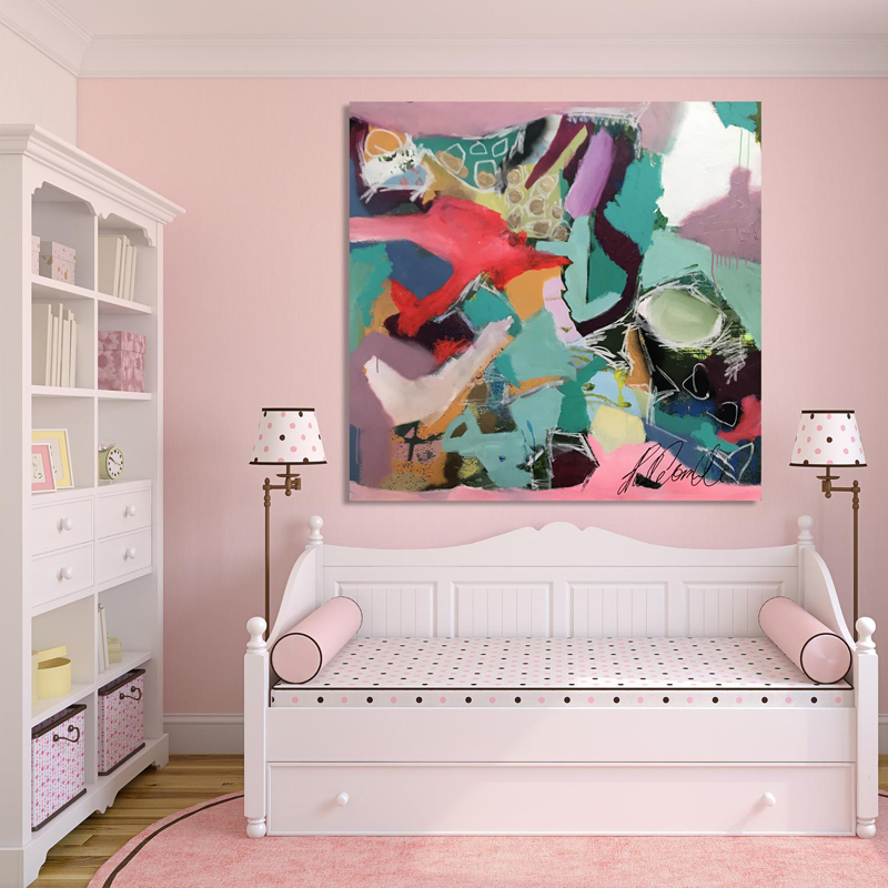 Canvas wall art online and freighted straight to your door; Free shipping. 'Lion Heart' by Australian artist Nicole Baker