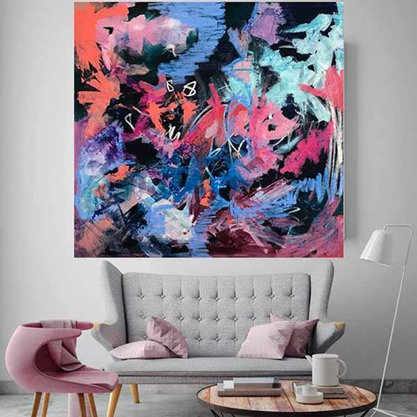 Best selling abstract paintings in Australia at the Baker Collection by acrylic abstract artist Nicole Baker and resin artist Jessica Skye Baker.