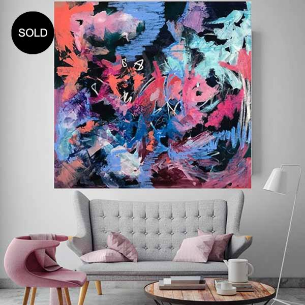 Best selling abstract paintings by Australian acrylic artist Nicole Baker, follow her on instagram as Nicki Comelli
