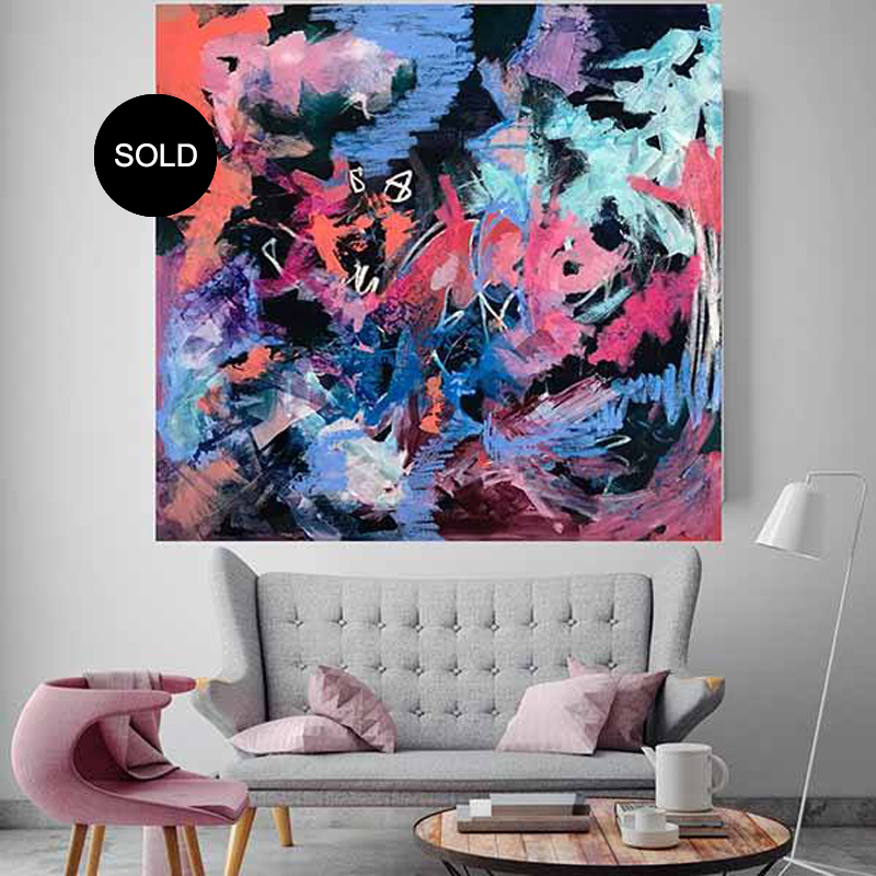 Best Selling Abstract Paintings 'So Ho Me' by Australian artist Nicki Comelli
