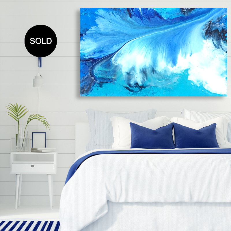 Original resin artwork SOLD 'Escapade' by Australian artist Jessica Skye Baker