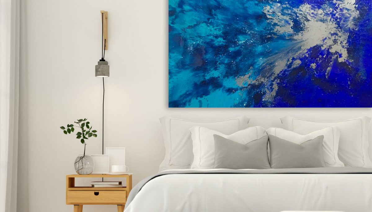Resin Artwork Azure Argent by artist Jessica Skye Baker