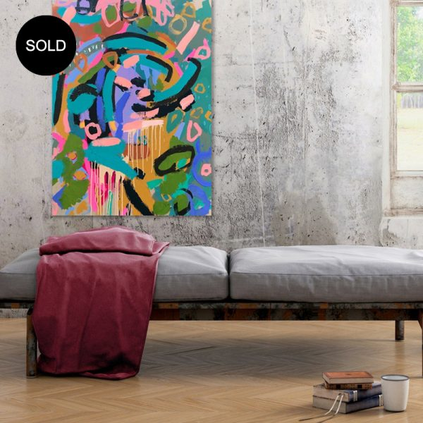 Abstract Australian art #25 Ways to Gucci by Australian artist Nicole Baker - Nicki Comelli at the Baker Collection