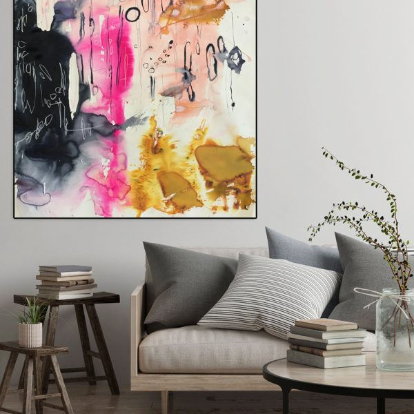 'Fanzine' is a large abstract original watercolour painting by Australian artist Jessica Skye Baker