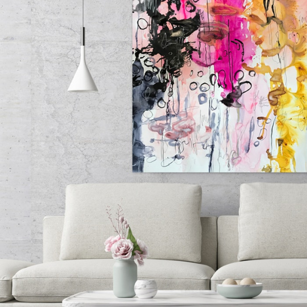 Jessica Skye Baker art 'Soul Food' is an original large abstract watercolour painting.