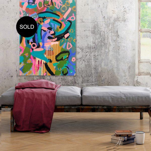 "Abstract Australian art ""#25waystogucci"" by artist Nicole Baker"