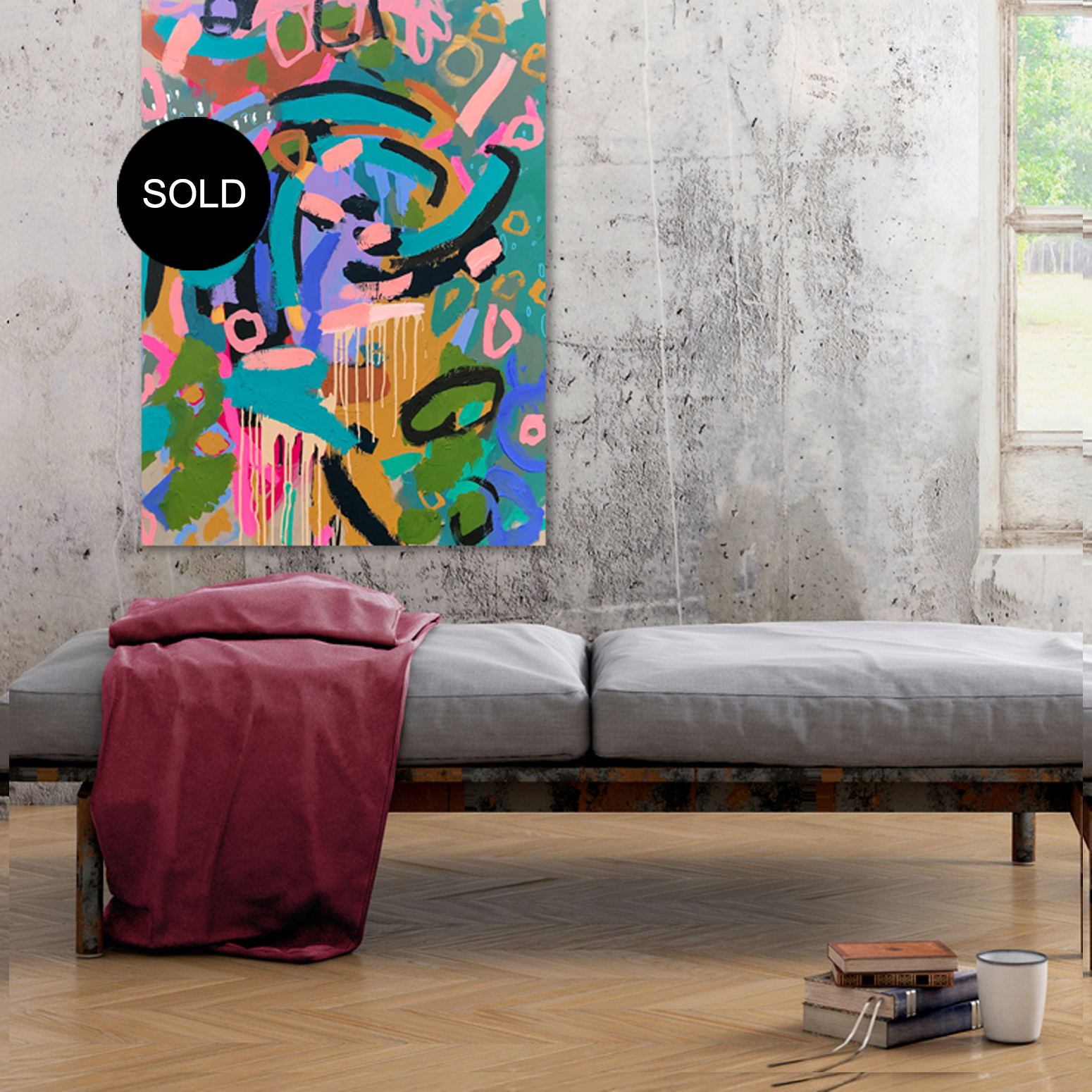 "Abstract Australian art ""#25waystogucci"" by artist Nicole Baker"