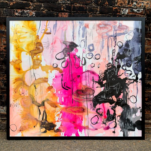 'Soul Food' large original abstract painting by Australian artist Jessica Skye Baker