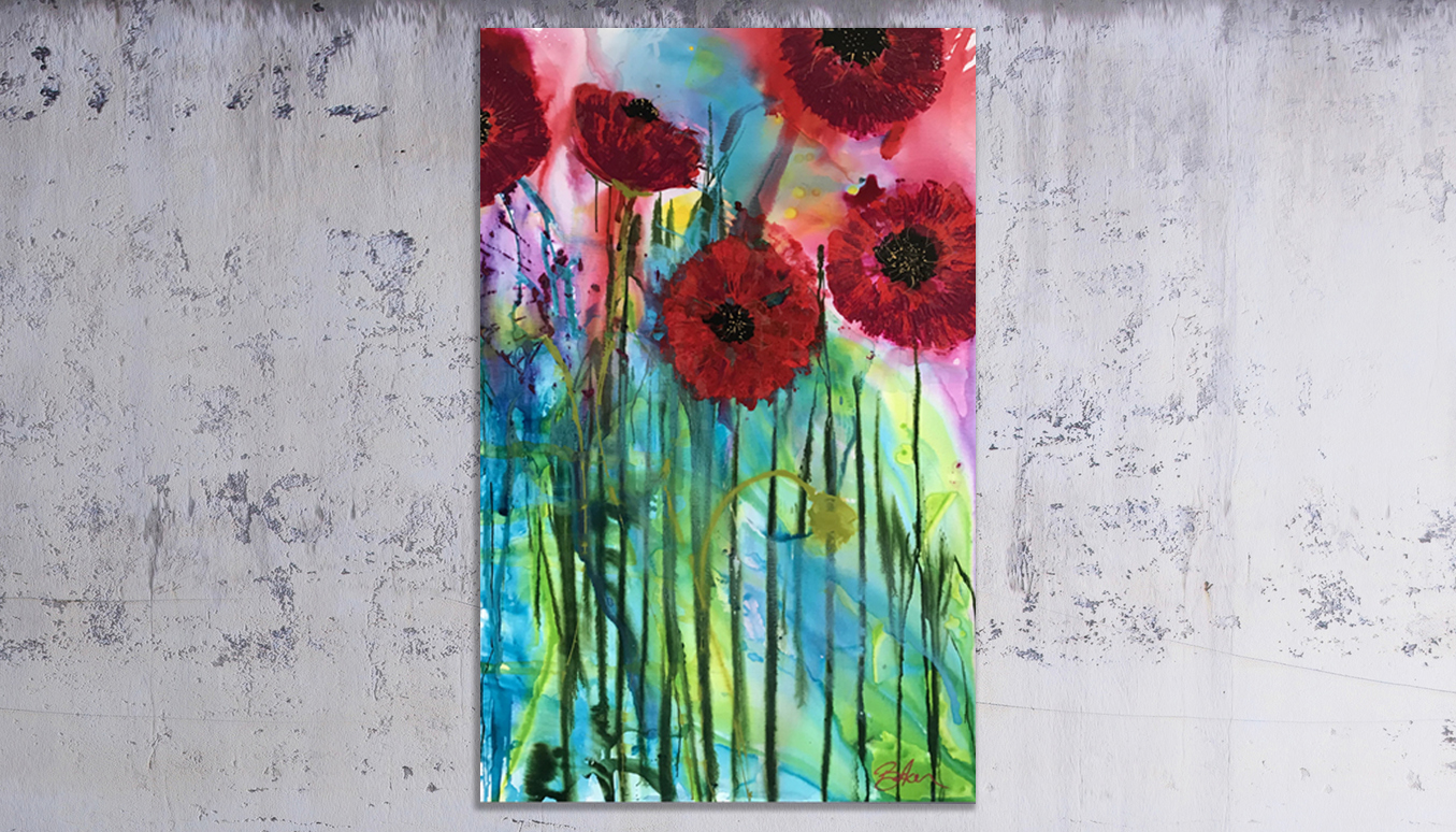 Original Paintings - Peace Poppies