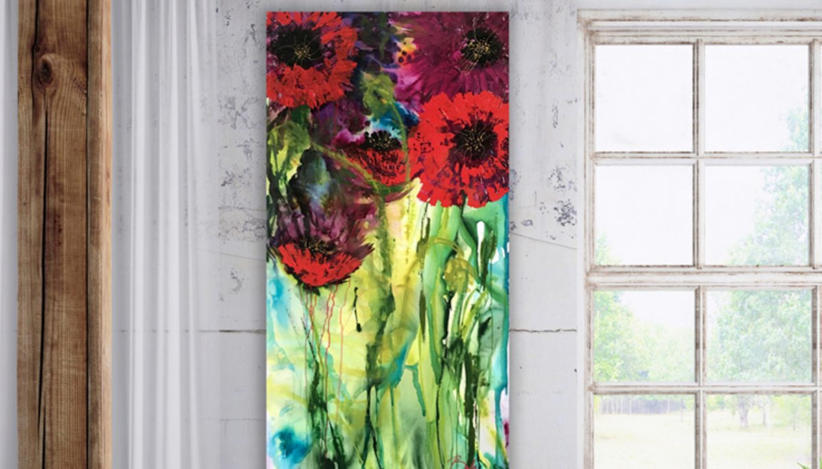 Abstract Poppy Paintings