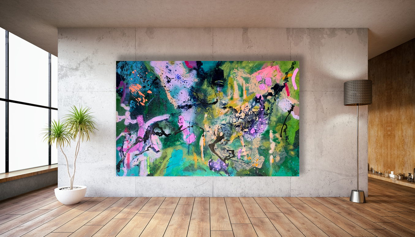 Big Paintings for Sale 'Midnight Mojito' by Australian artist Nicole Baker