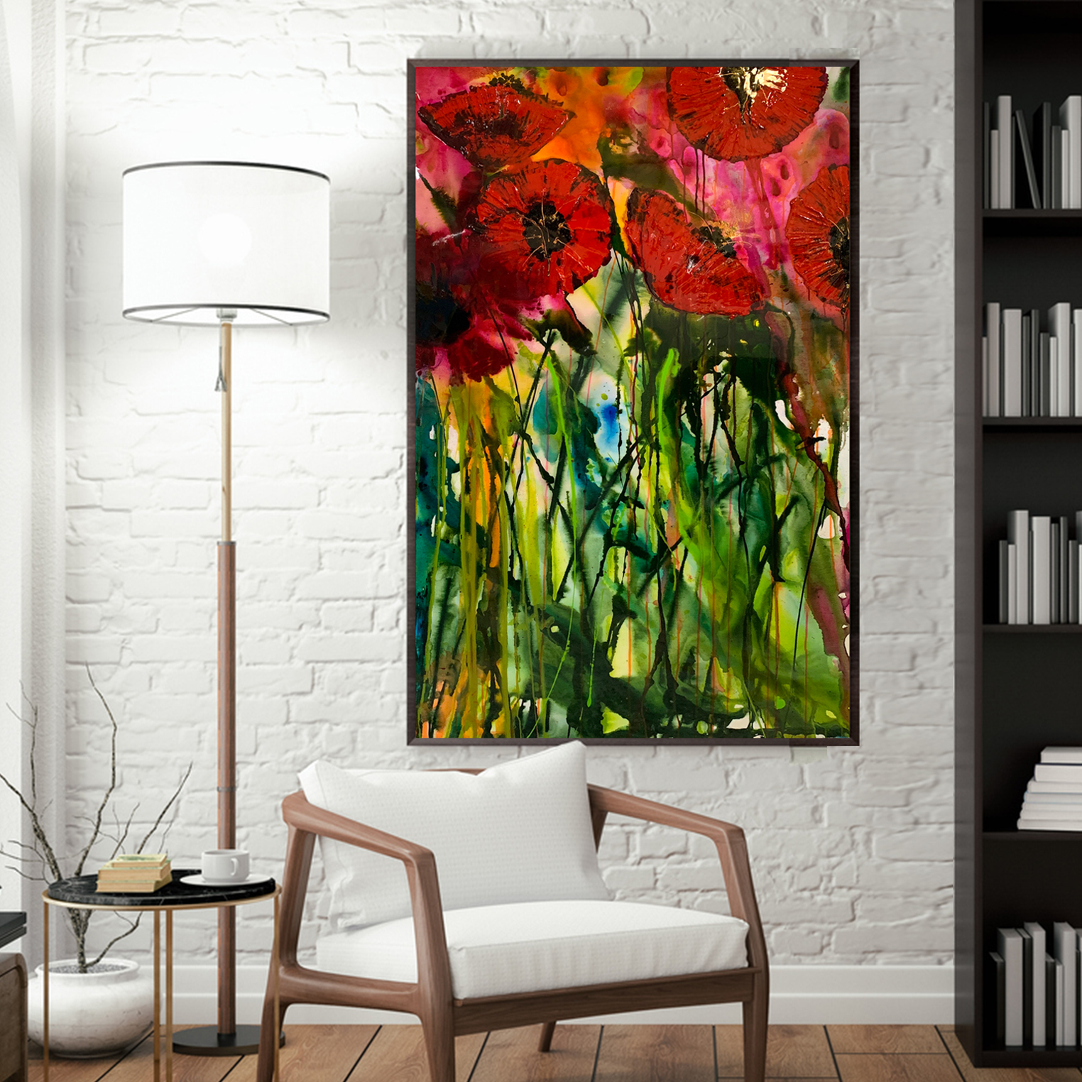 Buy Original Modern Paintings Red Poppies