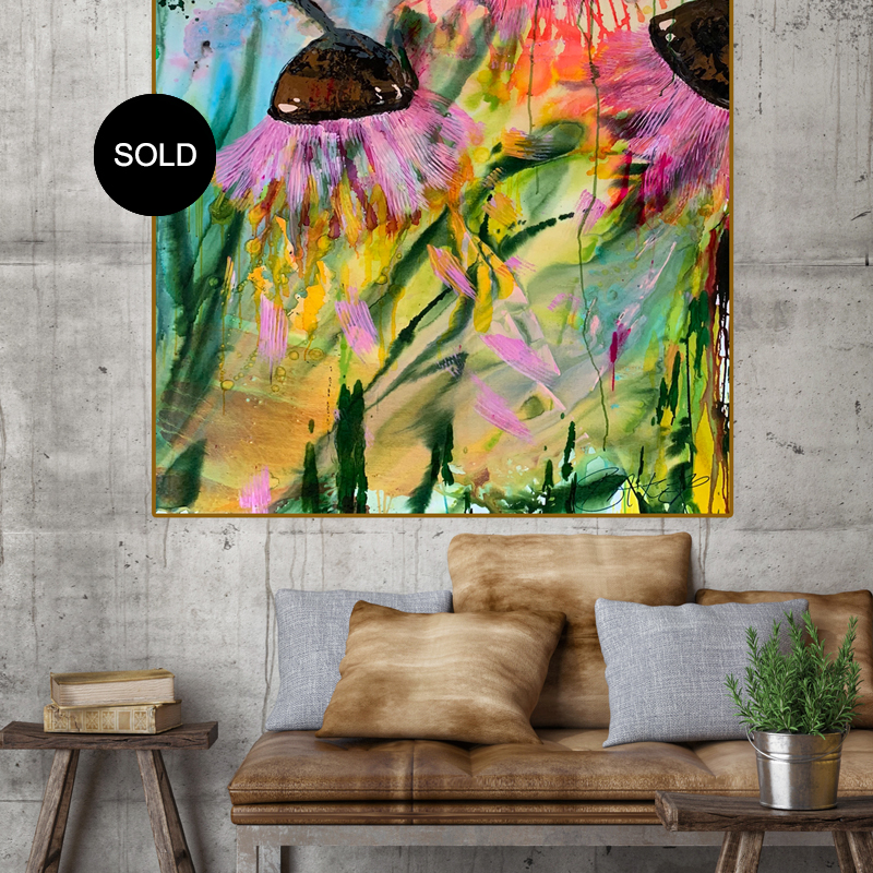 'Gum Nuts' Botanical Abstracts by Australian Artists Jessica Skye Baker & Nicole Baker