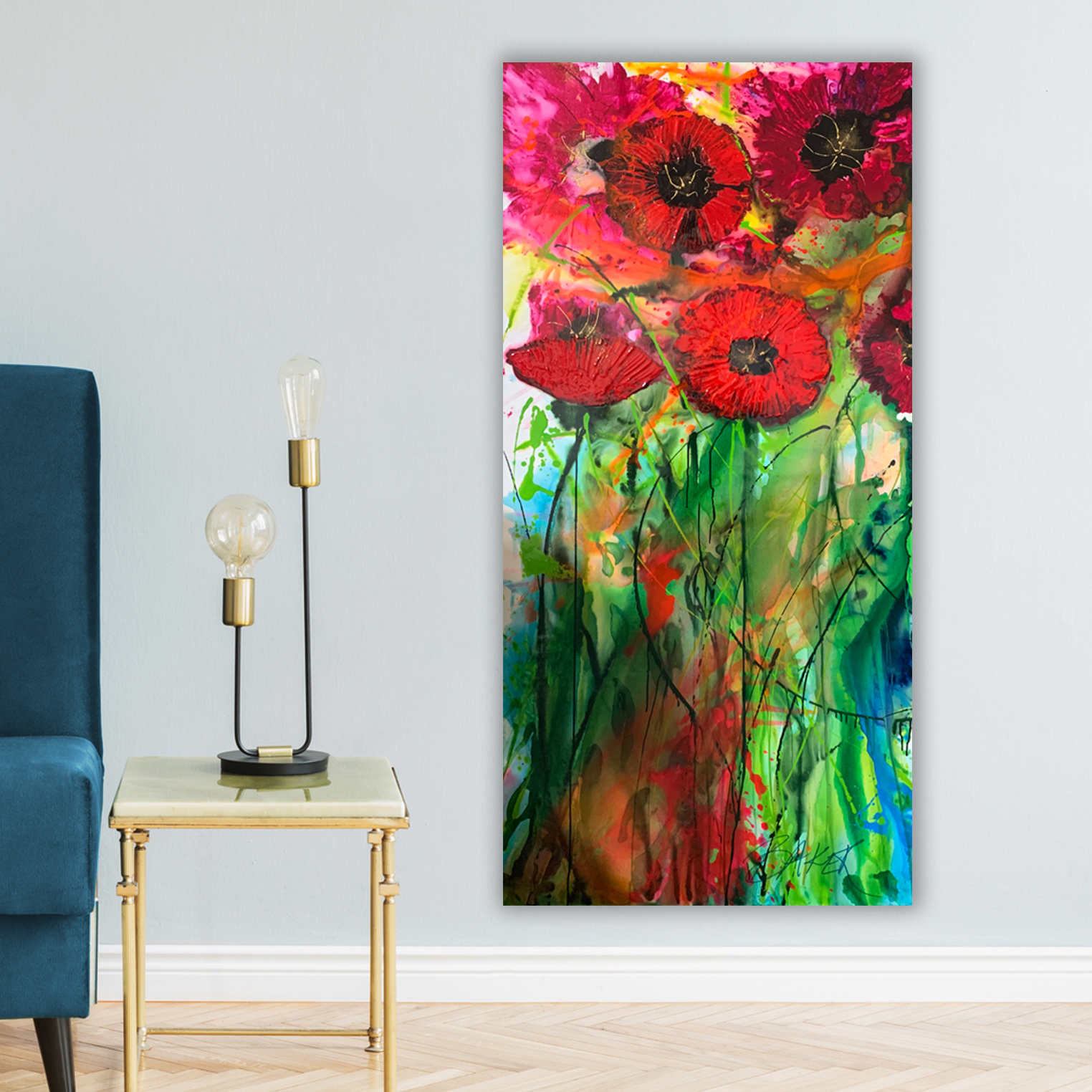 Cartel Poppies by Australian artists Nicole Baker and Jessica Skye Baker