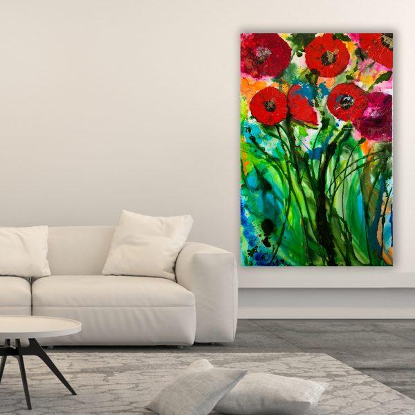 Poppy Art for Sale by Australian artists Nicole Baker & Jessica Skye Baker