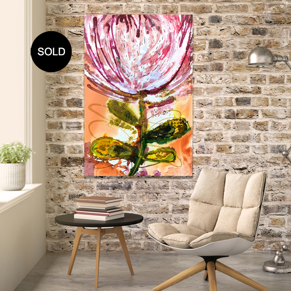 Protea paintings for sale at the Baker Collection