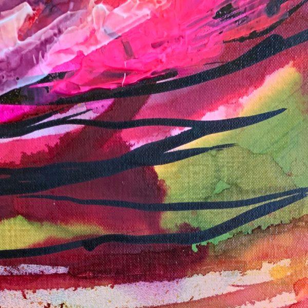 'Sugar Bush' ink work by Australian artists Nicole Baker & Jessica Skye Baker at the Baker Collection