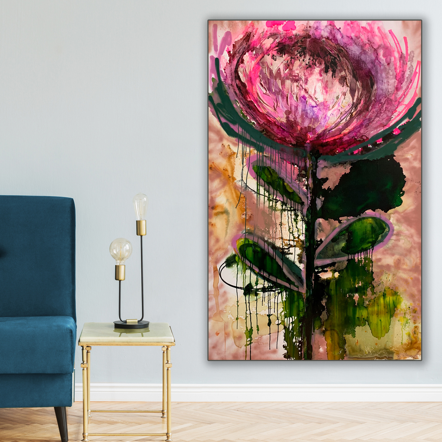 Floral Paintings Au Protea 'Belle' by Jessica Skye Baker