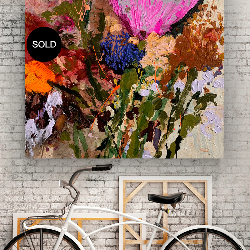 Original art Australia SOLD 'Cartel Flowers'