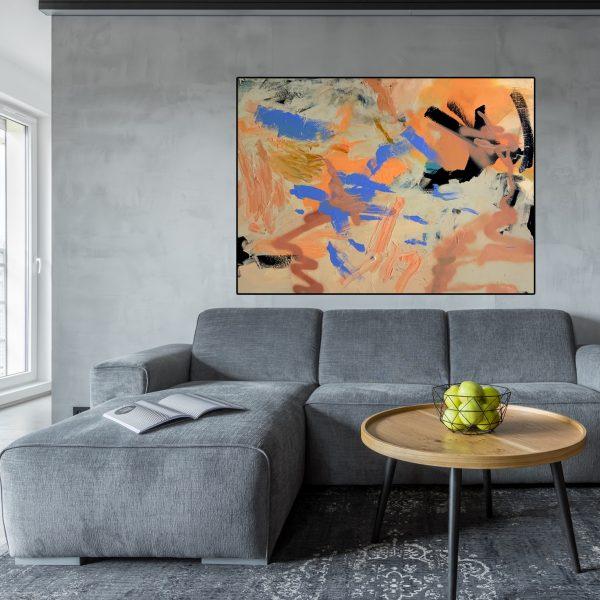 Modern Art Au 'Barely There' by Australian artist Nicole Baker
