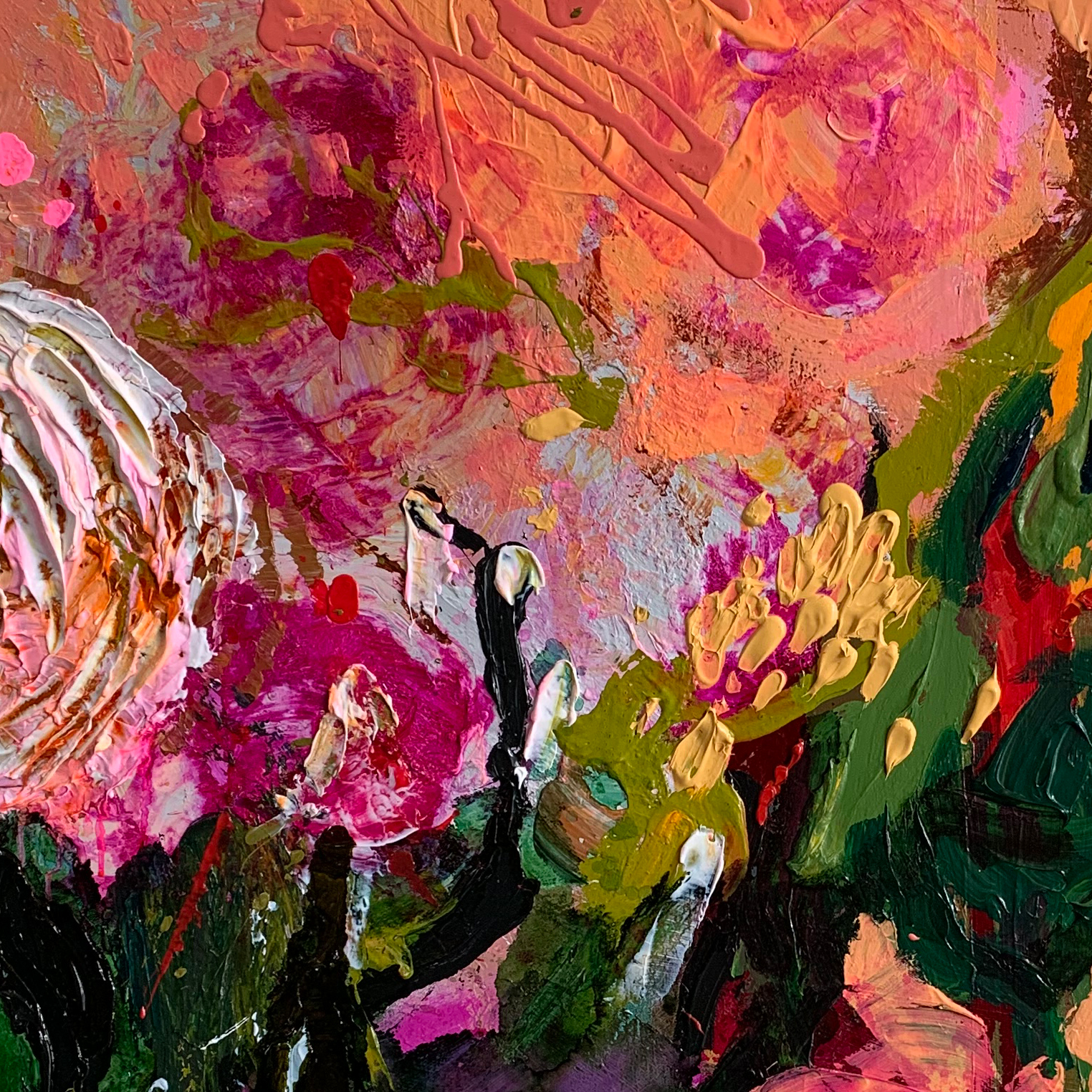 Abstract Floral Paintings Baker Collection