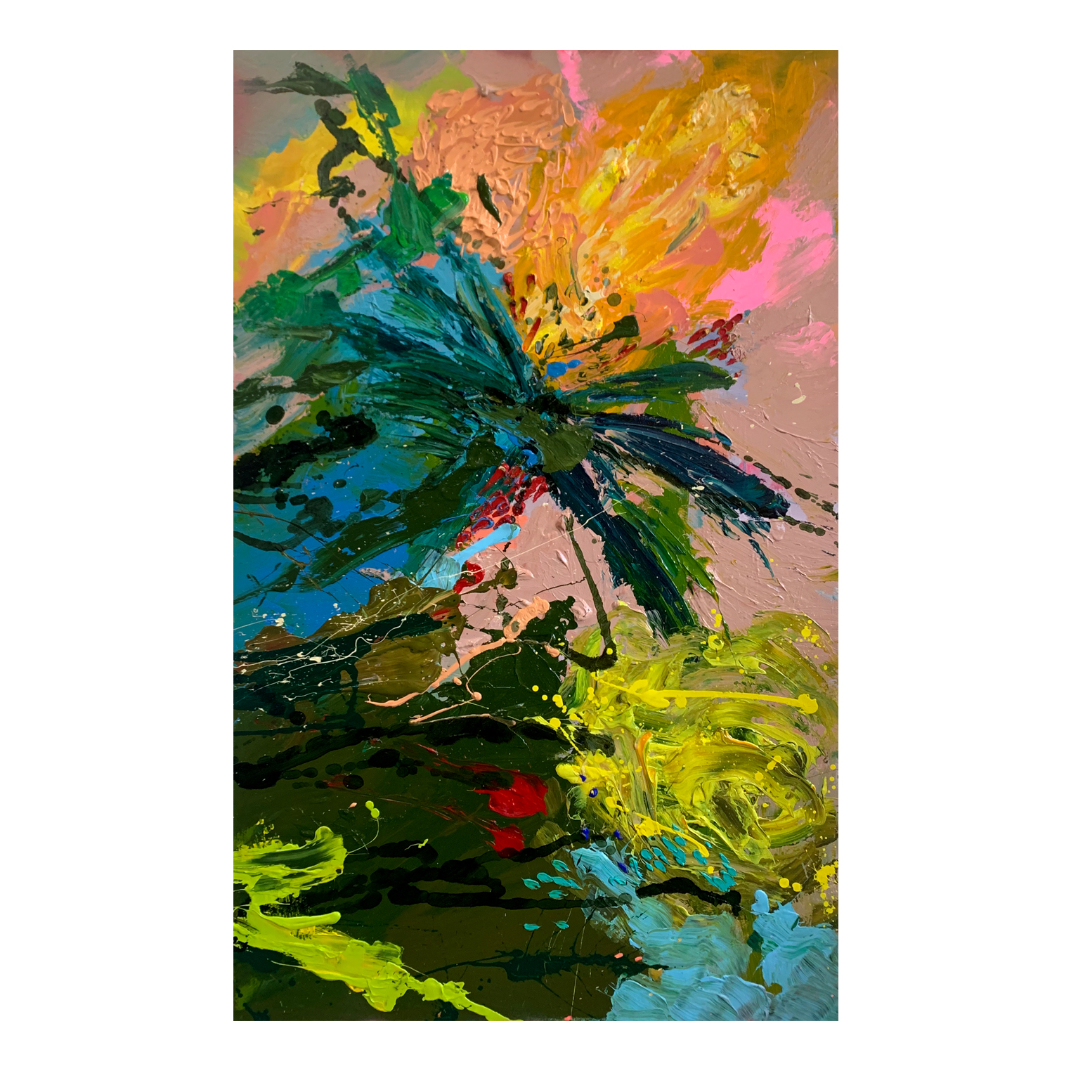 Abstract florals buy 'Sunshine Banksia' at the Baker Collection