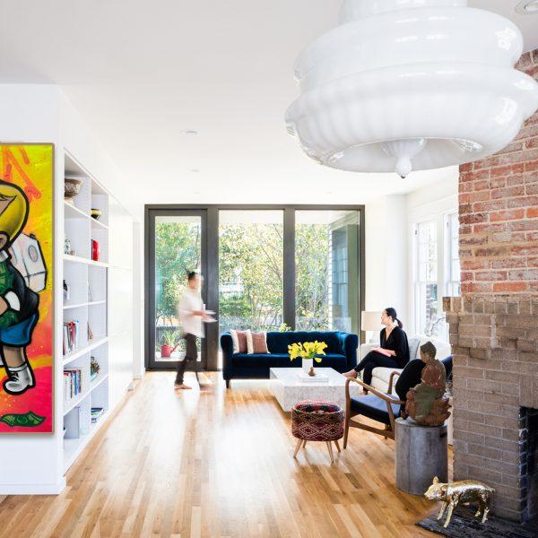 Wall art Richie Rich Billionaire 'Money Laundering'