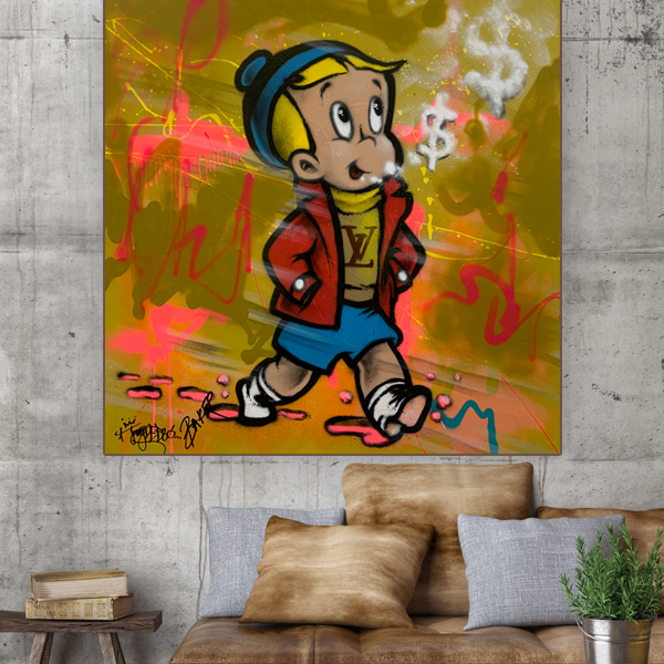 Sport painting buy 'Designer Sporty' Richie Rich Baker Collection