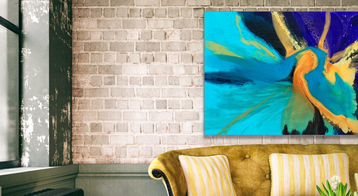Jessica Baker Resin Artwork '24 Karat Gold'