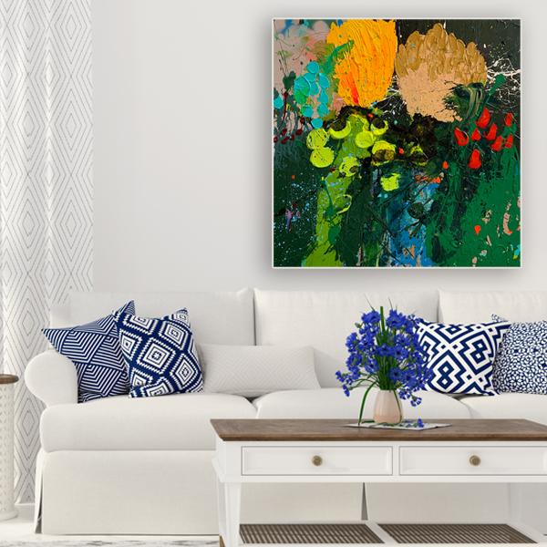 Original flower paintings buy 'Champagne Breakfast'