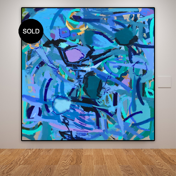 Big abstract art sale 'Brightful' by Australian artist Nicole Baker