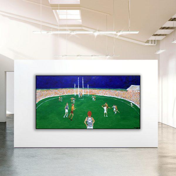 Artist Steve Baker at the Baker Collection